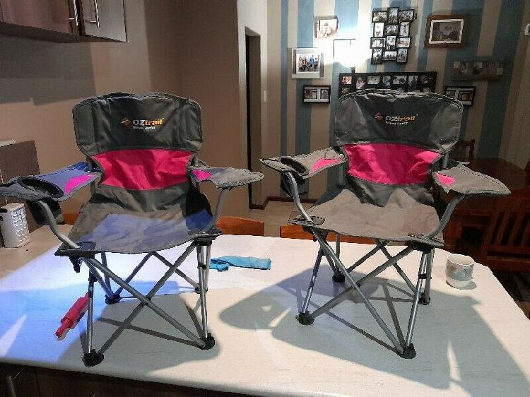 Oztrail junior deluxe camping chairs