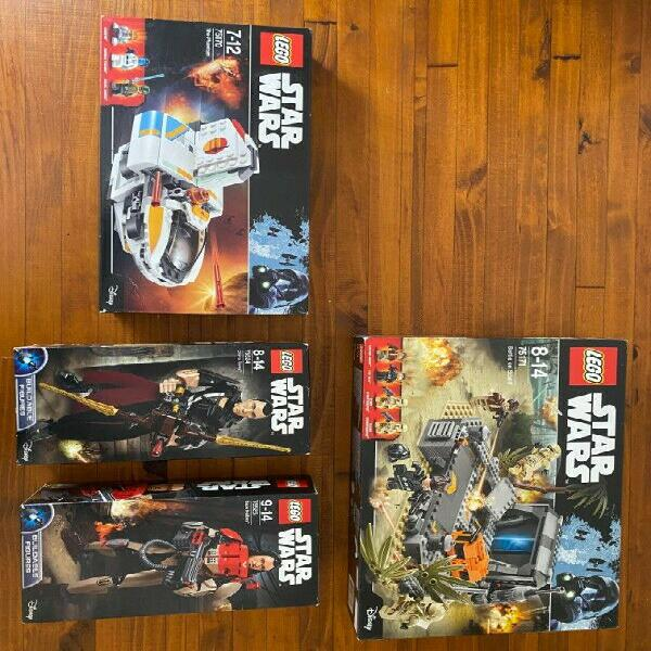 Brand new and unopened Lego Star Wars Sets