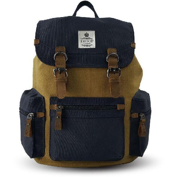Troop London Utility Backpack   Navy/Mustard