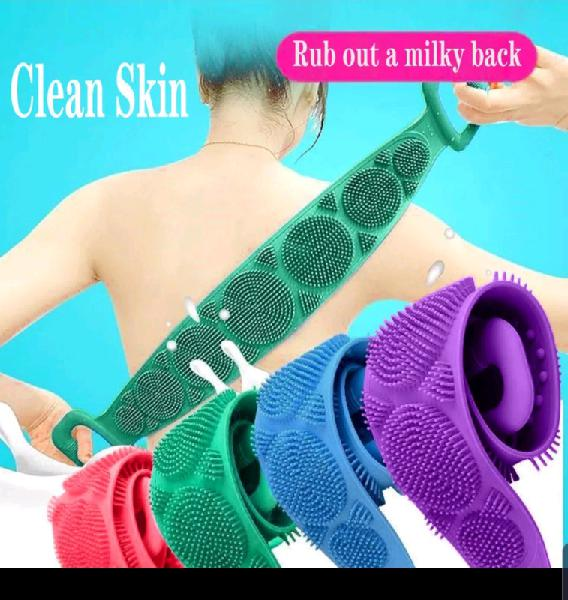Double sided silicone bath towels