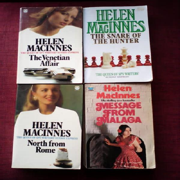 Four novels by Helen MacInnes. All paperback. All in good