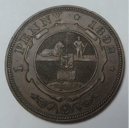 Paul Kruger ZAR: Penny (1d) of 1892 (Mint State Condition)