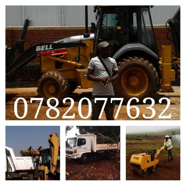 TLB HIRE - RUBBER REMOVAL