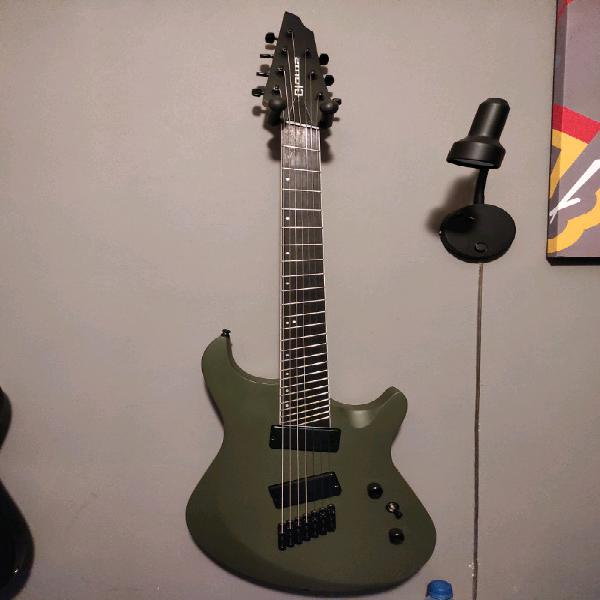 7 string multi scale fan fret electric guitar