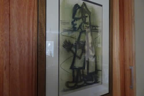 Father frans claerhout - 1919-2006 mixed media - frame size
