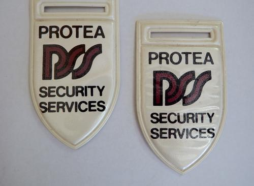 Pair of protea security services flashes - as per photo