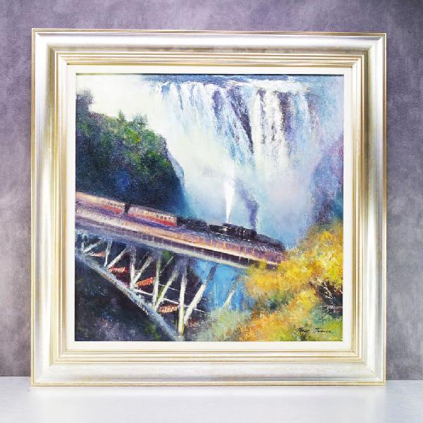 Signed and framed original peter j oil on stretched