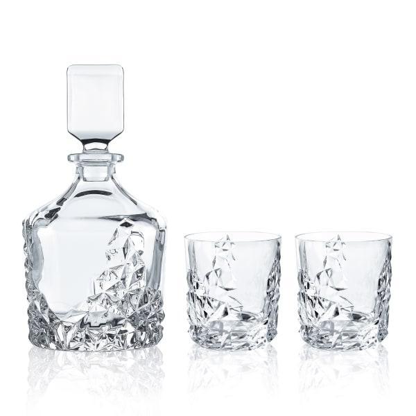 Nachtmann sculpture decanter & glasses, set of 3