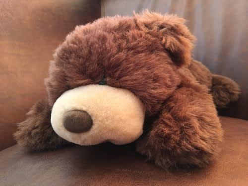 Original vintage tinco toys company sleep and drink bear