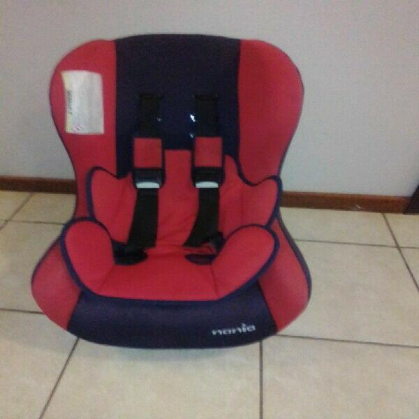Red and black nania car seat