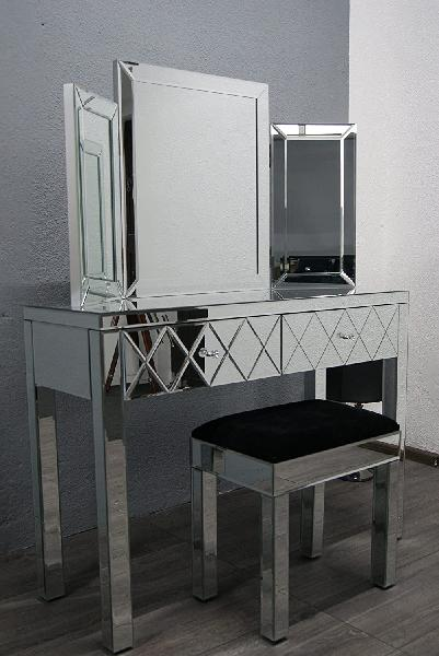 Carlswright mirrored dressing table & bench set
