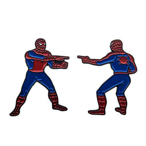 Marvel the spider man double identity enamel pin set amazon