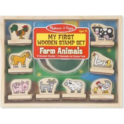Melissa & doug my first wooden stamp set (farm animals)
