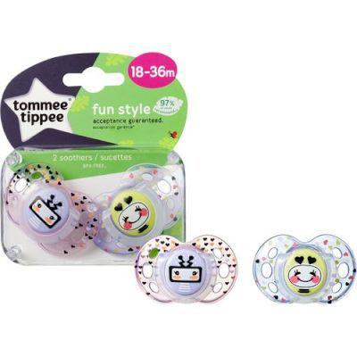 Tommee tippee closer to nature fun soother (girl | 18 - 36