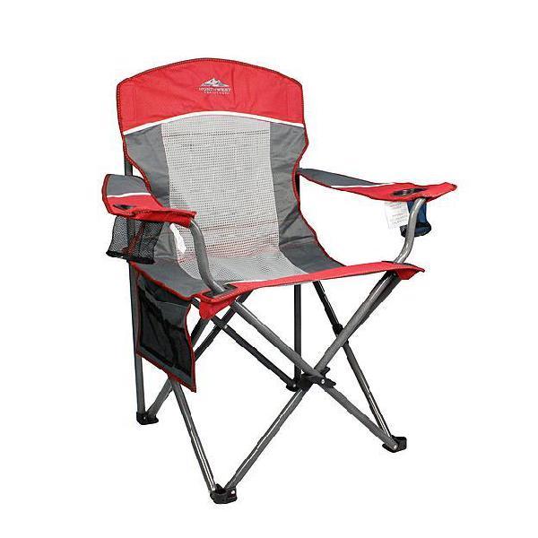 Northwest territory big boy xl mesh chair - red/gray