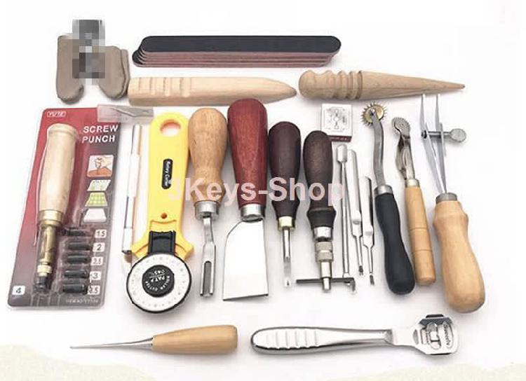 Leather carft tools kit 20pcs stitching carving working