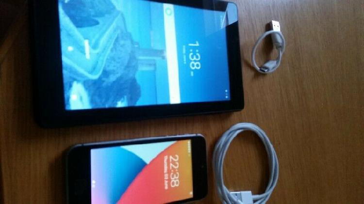 iphone 5 se + lenovo tablet
