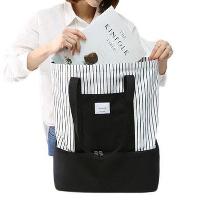 Fashion nylon thermal lunch bags for women insulated cooler