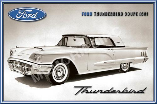 Ford thunderbird coupe (1960) - classic metal sign