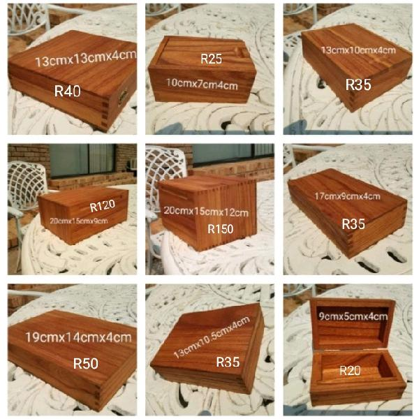 Wooden boxes in different sizes