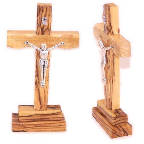 15.5cm Olivewood Crucifix from Jerusalem - Holy Land