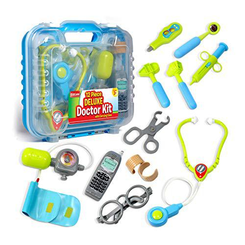Durable Kids Doctor Kit with Electronic Stethoscope and