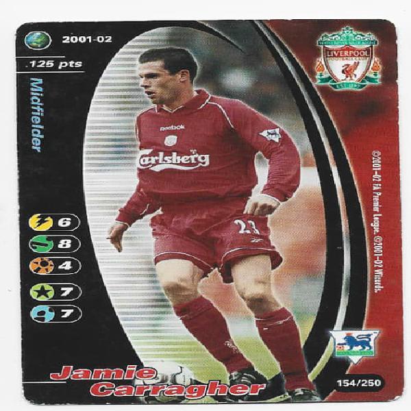JAMIE CARRAGHER (Liverpool) - EPL WIZARDS 2001/02 - FOIL