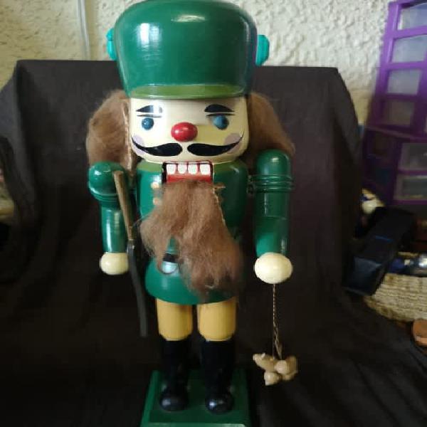 Large vintage wooden nutcracker soldier - relisted!
