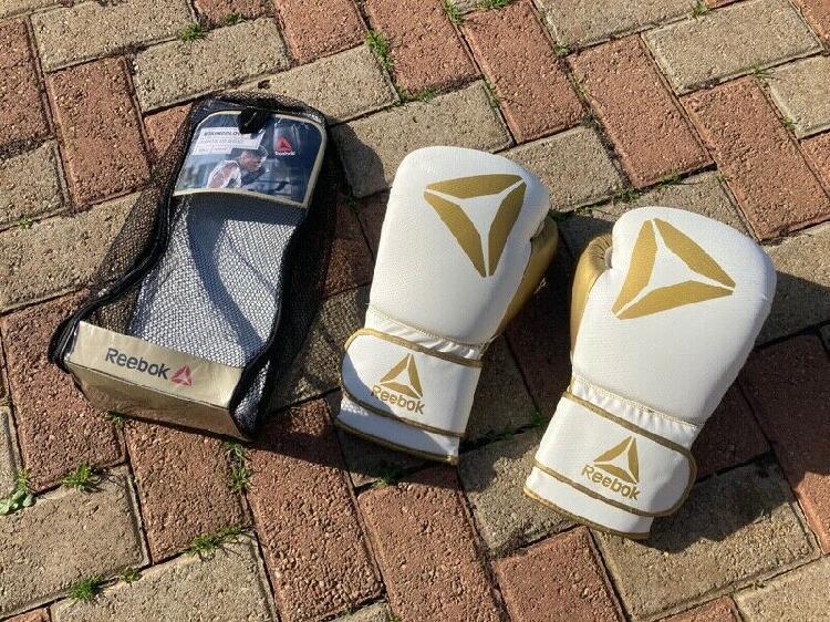 Reebok White/Gold Boxing Gloves R600 negotiable