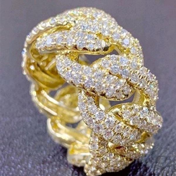 18k gold personality ring
