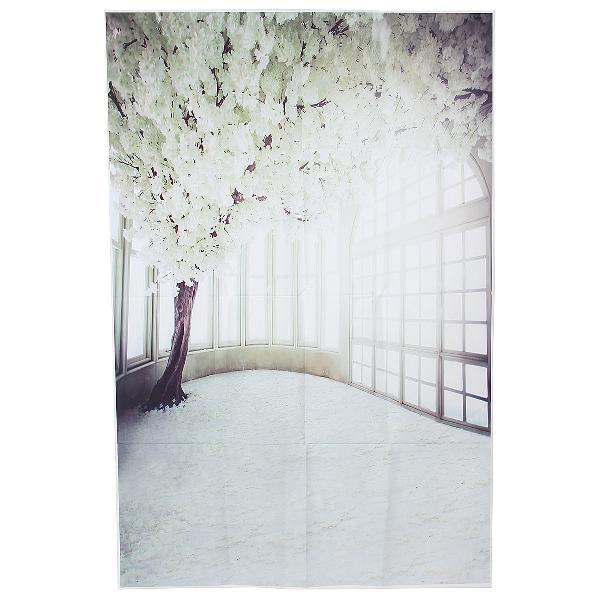 3x5ft vinyl white flower tree windows photography background