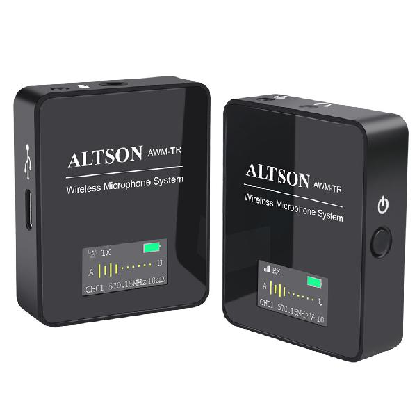 Altson awm-tm 1t1r wireless microphone system for mobile