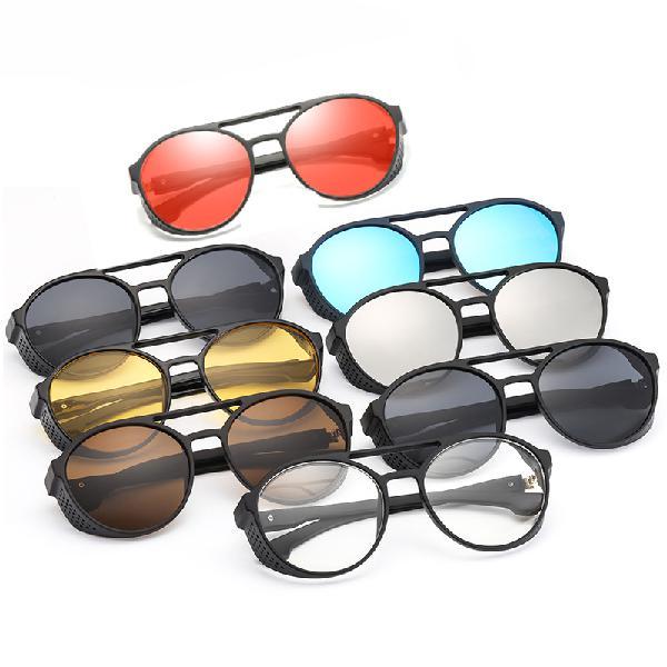 Fashion sunglasses men women punk retro round sunglasses
