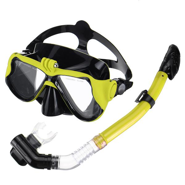 Full face diving mask snorkel scuba swimming dry snorkeling