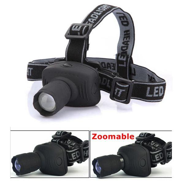 3w 6 modes zoomable led bike bicycle headlight headlamp