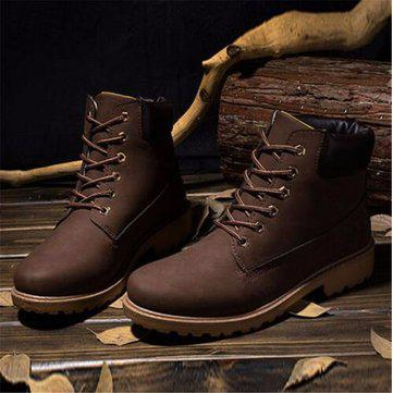 Men`s snow boots camping hiking shoes waterproof