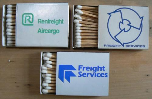 3 freight services matchboxes - look unused - see listing