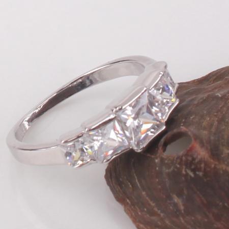 Fashion jewellery !white sapphire 18k white gold filled