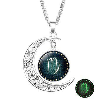 Retro style pendant necklace (constellation: virgo)