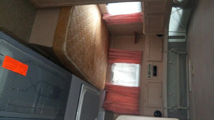 1995 sprite sabre 4 sleeper caravan with semi island bed