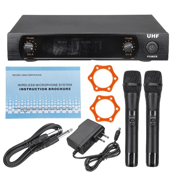 Color. black)uhf 220-270mhz wireless microphone system