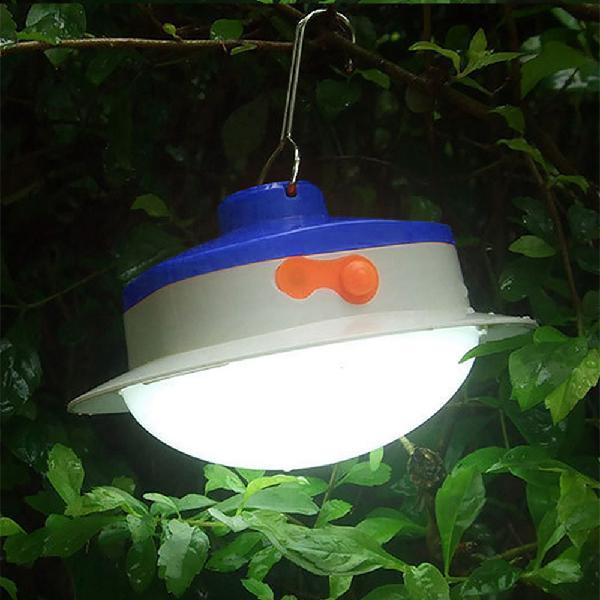 Portable solar panel power led light sensor camping lantern