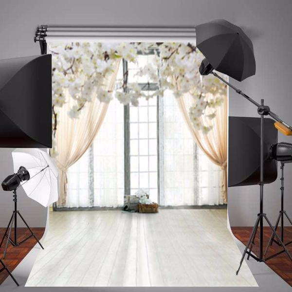 1.5x2.1m photographic vinyl background white flower window