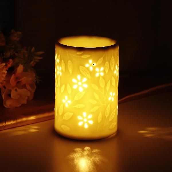 12cm height fragrance warmer porcelain white fragrance lamp
