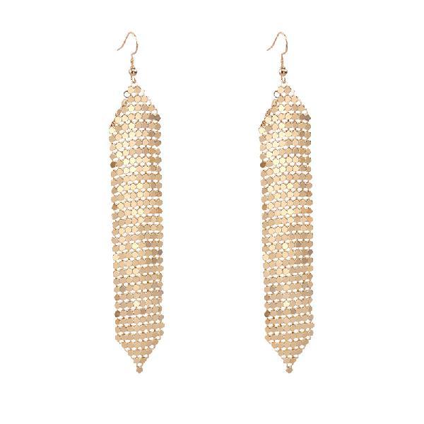 Tassels long earrings sequins geometric drop fashion jewelry