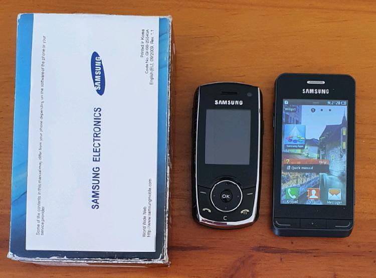 2 x samsung phones as is