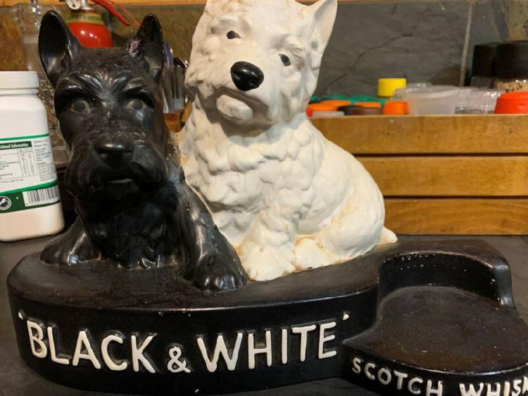 Antique b&w bar collectable sculpture