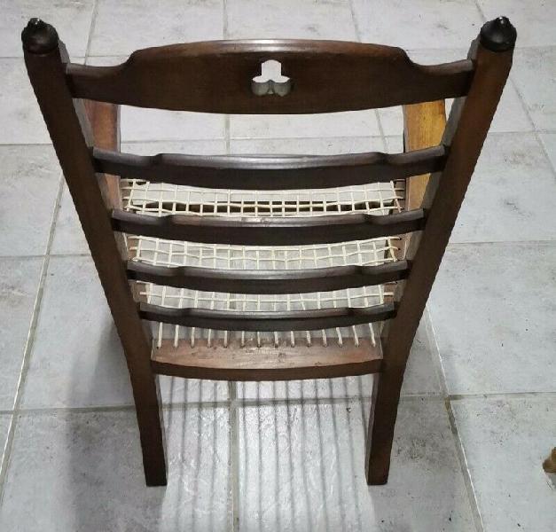 Antique riempie chair