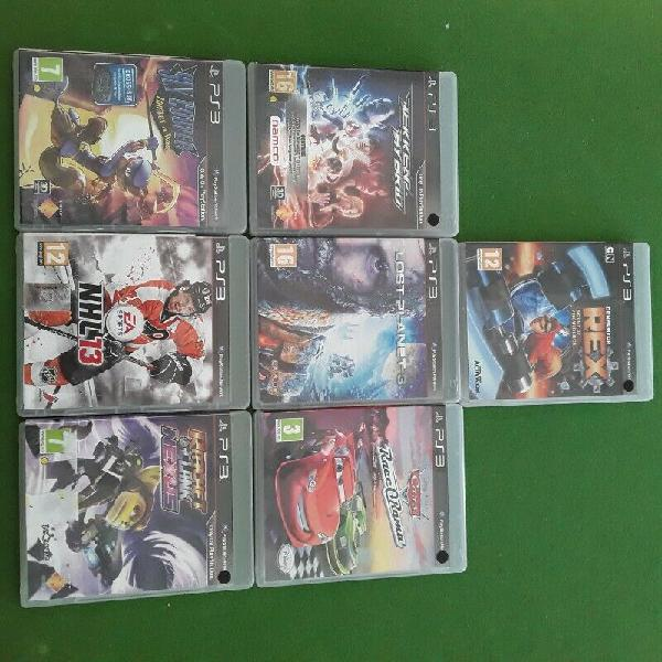 Assorted playstation 3 games