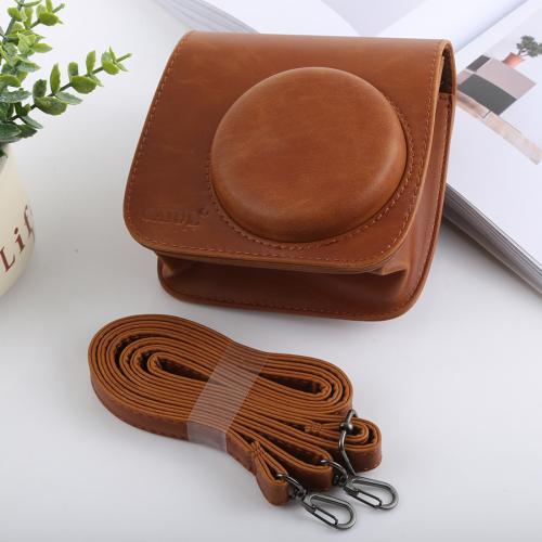 Retro style full body camera pu leather case bag with strap